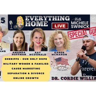 215 LIVE: DR CORDIE WILLIAMS + Sheriffs, Military, Cause Marketing, Divorce, SEO