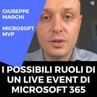 Microsoft 365 live events: i possibili ruoli
