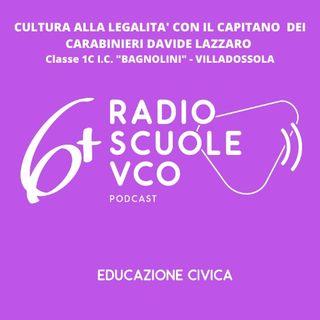 """""""Cultura alla legalità"""" con il Capitano dei Carabinieri Davide Lazzaro della Compagnia di Domodossola"""