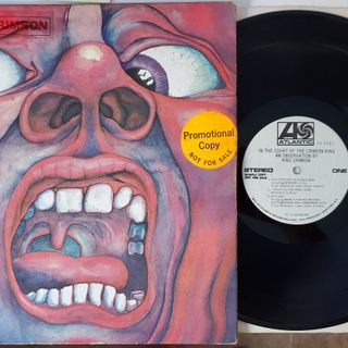 Side 1 and 2 of King Crimson White Label Promo Vinyl LP  In The Court Of The Crimson King (1969)