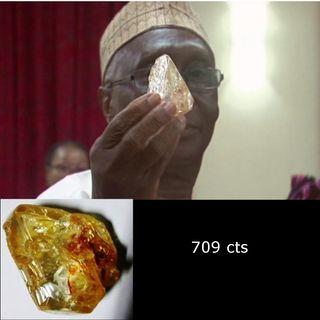 El diamante de 709 cts encontrado por el pastor de ovejas, viaja a Belgica