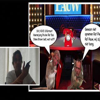 'Ratje Pief Paf Jeroen Pauw' durft niet aan de telefoon te komen als Steve Brown belt.