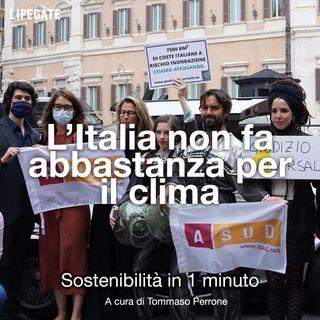 L'Italia in tribunale, non fa abbastanza per il clima