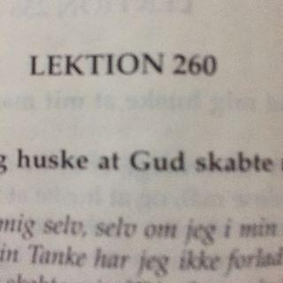 Lektion 260. Et kursus i mirakler.
