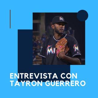 Tayron Guerrero de los Marlins de Miami