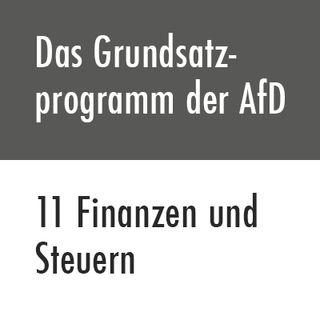Das Grundsatzprogramm der AfD – 11 Finanzen und Steuern