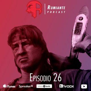 26. Peña, Tania y Trudeau disfrazados de Rambo
