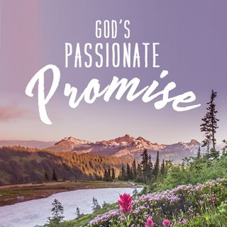 God's Passionate Promise with ocean waves