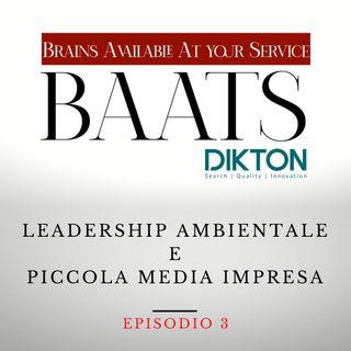 Leadership Ambientale e Piccola Media Impresa