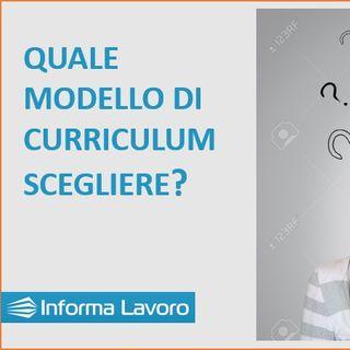 1 - Quale modello di curriculum per trovare lavoro?