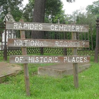 Historic Rapides Cemetery in Pineville, Louisiana