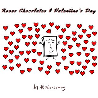 Roses chocolates & Valentine's Day