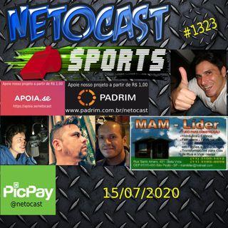 NETOCAST 1323 DE 15/07/2020 - ESPORTES - F1 - FUTEBOL - UFC