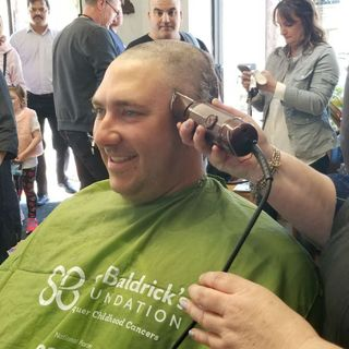 Quincy Police Go Bald For 3-Year-Old Battling Brain Cancer