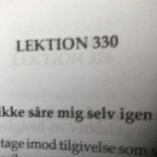Lektion 330. Et kursus i mirakler.