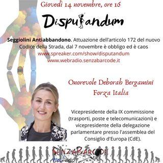 Intervista a Onorevole Deborah Bergamini Forza Italia