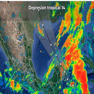 Lluvias y alerta amarilla en Quintana Roo por depresión tropical