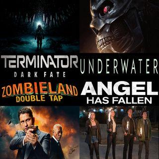 Week 147: (Underwater (2020), Terminator: Dark Fate (2019), Zombieland: Double Tap (2019), Angel Has Fallen (2019))
