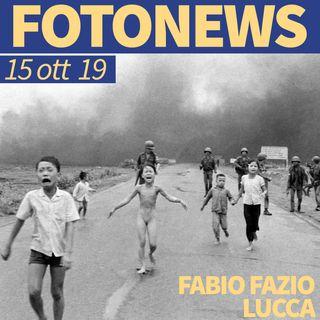 Fotonews del 15 ottobre 2019: Fabio Fazio, Nick Ut, Vincent Delbrouck, Nicolas Asfouri, Rodi Said