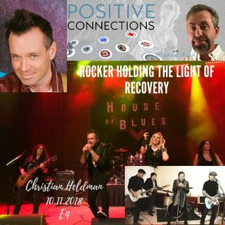 Rocker Holding the Light of Recovery: Christian Heldman