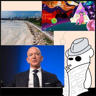 Bezos, mucillagine e cartoni splatter