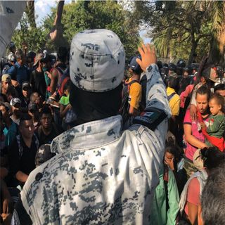 GN retiene a migrantes centroamericanos