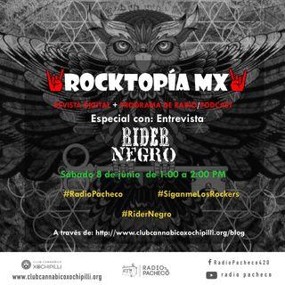 RocktopiaMx - Final De La 1a Temporada Programa 19 - Entrevista con: Rider Negro | Al Aire 🎧🎙🎚