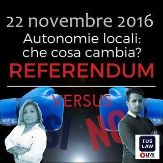 #ReferendumVERSUS: Speciale #RiformaCostituzionale! 22 Novembre 2016