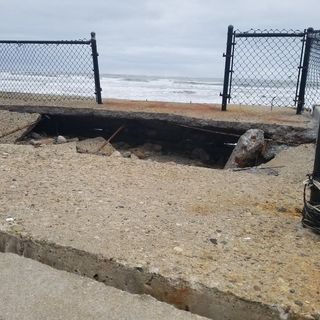 Seawall Damaged By Nor'easter Flooding In Marshfield, Duxbury