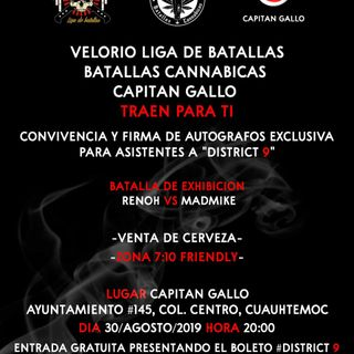 RENOH vs MADMIKE  Batallas Cannabicas  Radio Pacheco
