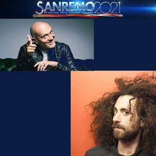 """Per la serata cover a Sanremo 2021, Gio Evan, classe 1988, scrittore e poeta oltre che cantante, ha interpretato """"Gli anni"""" degli 883."""