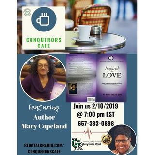 Conquerors Cafe Author Spotlight Featuring Author Mary Copeland