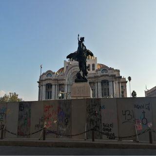 Resguardan monumentos en Centro Histórico por marcha