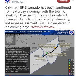 Franklin tornado update, April 14 2019