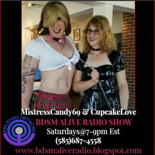 MistressCandy69 & CupcakeLove BDSM ALIVE RADIO SHOW 10/27/18 Alex the Necromancer calls in and Mezzy Says hello