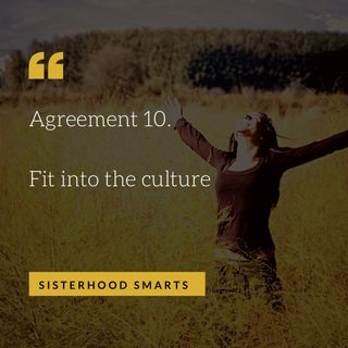 Agreement 10: Fit into the culture