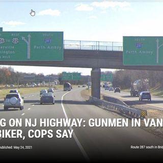 Shooting on NJ Highway: Gunmen in Van Tried to Kill Biker, Cops Say