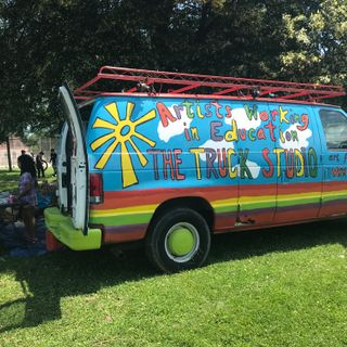 A.W.E truck studios hit the road with free art projects