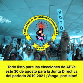 #ProgramadeRadioAEVe Todo listo para las elecciones de la Junta Directiva 2019-2021