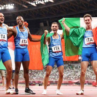 Olimpiadi, Italia oro nella 4×100, marcia 20km e karate. 38 medaglie, è record