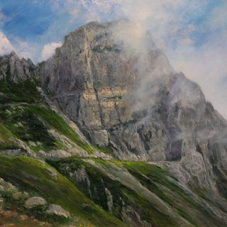 """Il massiccio del Pasubio """"vestito di nuvole"""" in una mostra pittorica al Toaldi Capra"""