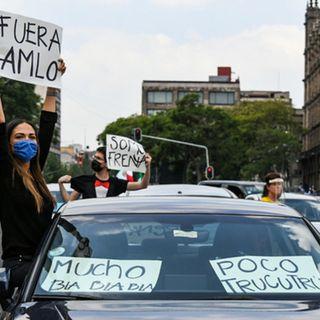 Frente Nacional AntiAMLO protestan en CDMX