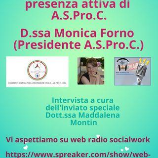 Monica Forno. Ai tempi del Covid 19: la presenza attiva di A.S.Pro.C. e le possibili vie d'uscita