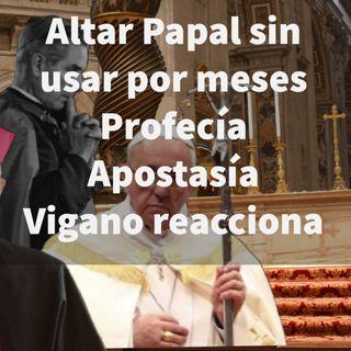 Episodio 419: 😩 Altar Papal sin usar por meses 🌿 Planta Pachamama😱  Profecía Apostasía 👏 Vigano reacciona