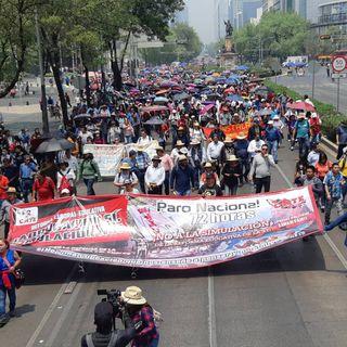 CNTE anuncia movilizaciones para este lunes