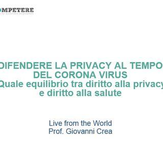 #CompetereLive Ep.2: Difendere la privacy al tempo del Corona Virus