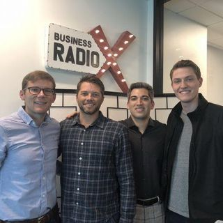 Andrew Osterday with Local Industries, Sean Henry with STORD, and Stephen Wegner with Knock