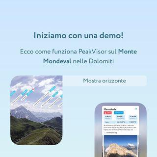 PeakVisor ti fa conoscere cime e montagne