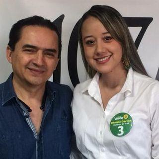 Daniela Garzón candidata al Concejo de Cali en emisora Javeriana