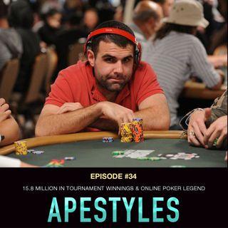 "#34 Jon ""Apestyles"" Van Fleet: $15.8 Million in Tournament Winnings and Online Poker Legend"